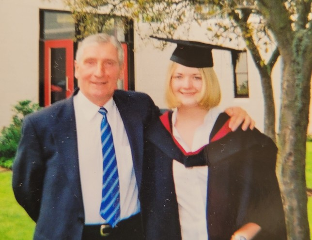 Kate Townsend and dad at her graduation