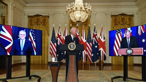 Britain signed up to a defence pact with Washington and Canberra