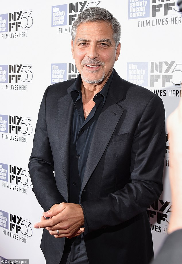 Future project: George Clooney and Brad Pitt are set to rake in serious paydays after they started a bidding war over their next project; the former is pictured in 2015