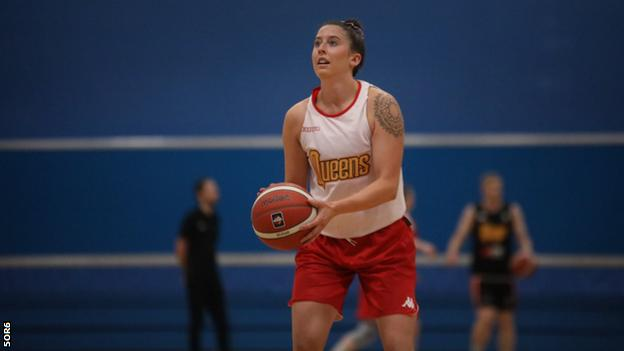 Gloucester City Queens player Claire Abbott