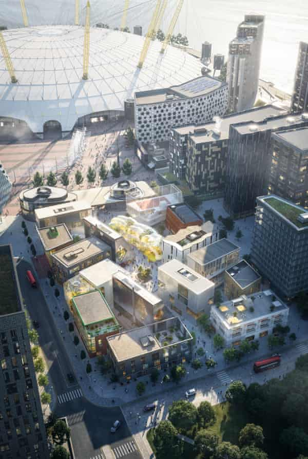 CGI of the Design District, which sits close to the O2.