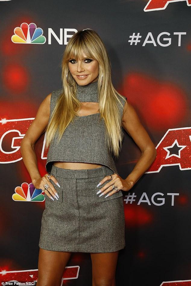 Stylish Heidi:Heidi Klum showed off her stylish ensemble on the red carpet before the America's Got Talent semi-finals results show