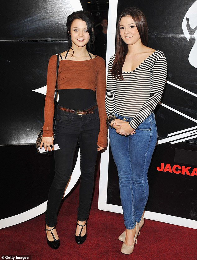 Together again: Megan Prescott has received permission to fly from the UK to New York to visit her sister Kathryn Prescott in the hospital after she was struck by a cement truck earlier this week; Kathryn (L) and Megan pictured in 2010 in London