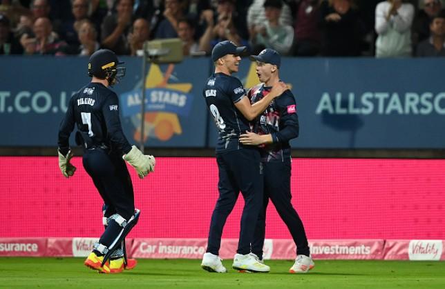 Kent beat Somerset in the 2021 T20 Blast final