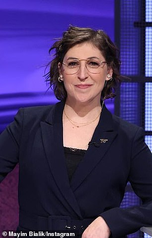 The Big Bang Theory alum Mayim Bialik pictured in a a post she shared on August 11