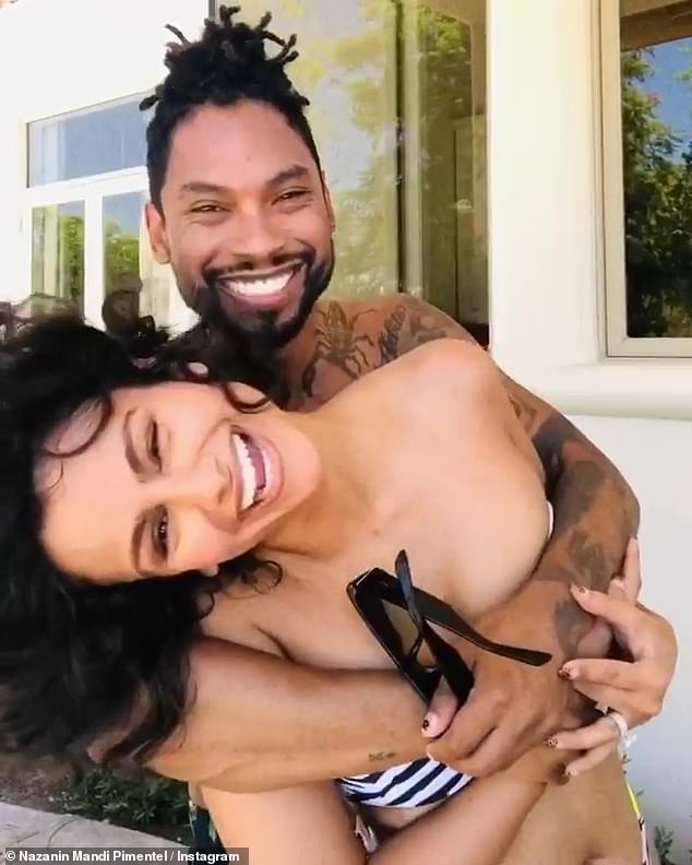 The way they were:Miguel and wife Nazanin Mandi have split. The singer and the actress, both 35, have been together for 17 years, including three years of marriage