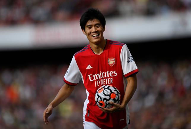 Takehiro Tomiyasu made his debut as Arsenal beat Norwich City
