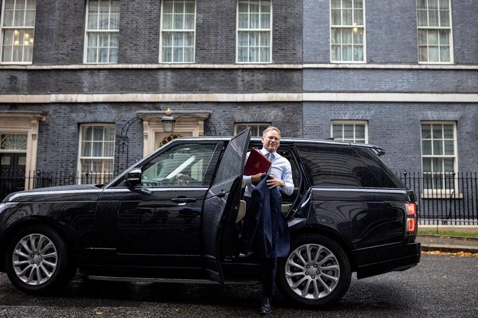 Transport secretary Grant Shapps arrives at Downing Street on 14 September (Getty Images)