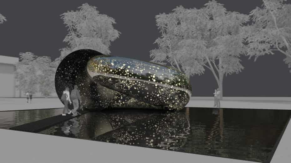 An artist's interpretation of Lindy Lee's Ouroboros, 2024