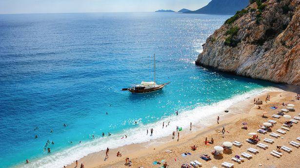 A beach in Turkey