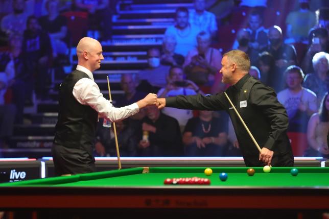 Chris Wakelin and Stephen Hendry