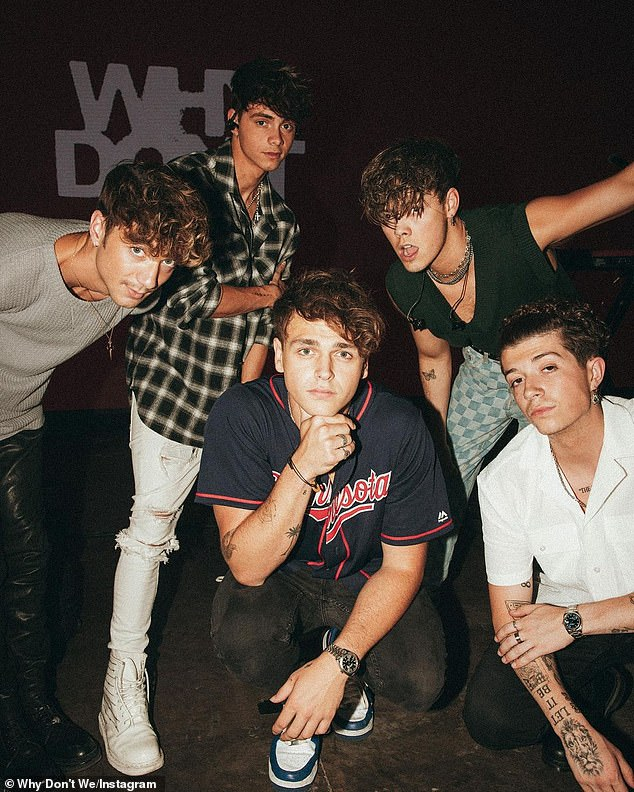 Harsh treatment: The boyband Why Don't We alleged in an Instagram statement posted Thursday that one of their managers subjected them to 'verbal abuse and malnourishment' for years