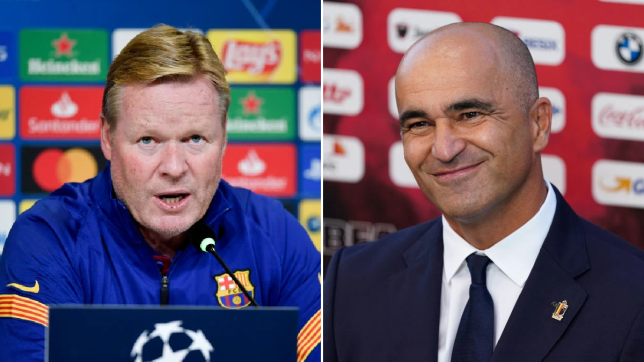 Roberto Martinez speaks out on Barcelona links as Ronald Koeman walks out of press conference