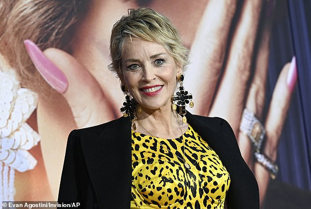 Generous: Oscar nominee Sharon Stone left a $600 tip on a $250 bill after dining at French brasserie Balthazar in Manhattan's SoHo neighborhood on Tuesday night(pictured Tuesday)