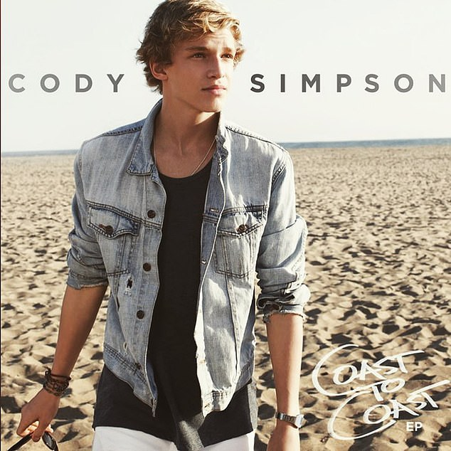 Success: Singer Cody Simpson, 24, has reflected on ten years of success since the release of his second EP in 2011, titled Coast to Coast
