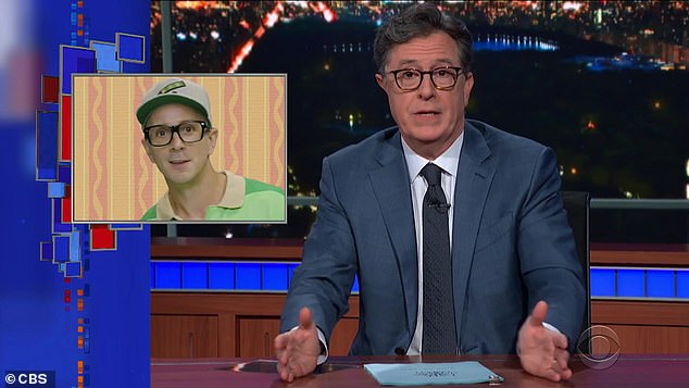 Touching:Stephen Colbert became visibly emotional when Blues Clues original host Steve Burns made a surprise appearance on his talk show