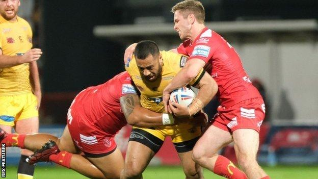 Matt Parcell (right) was also among the try scorers when Hull KR won 26-22 at Castleford in May