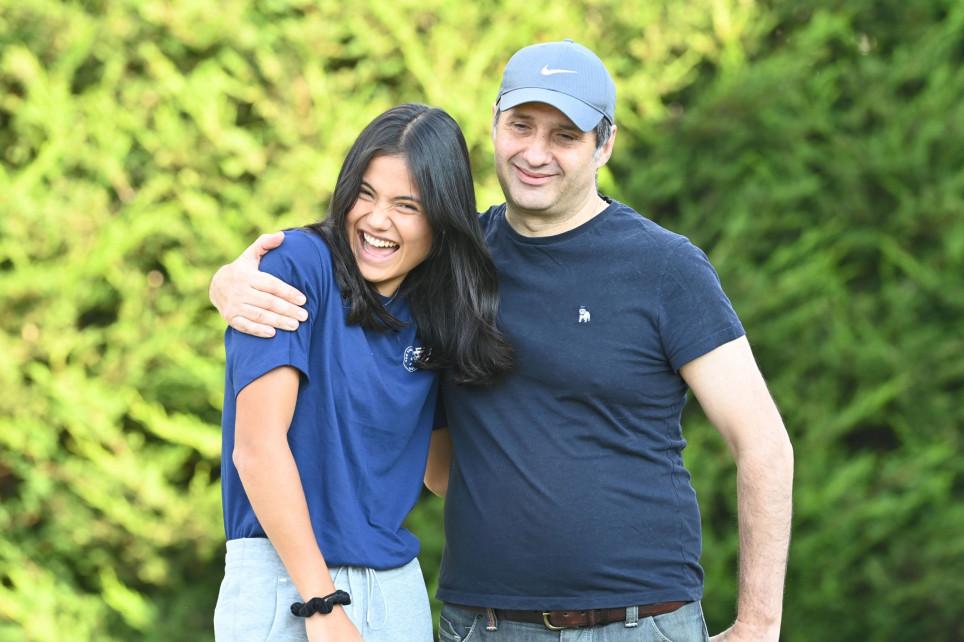 Emma Raducanu returns home and reunites with dad after US Open win
