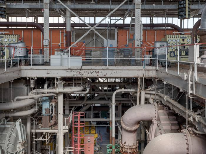 The abandoned turbine hall at Calder Hall, the world's first commercial nuclear power station