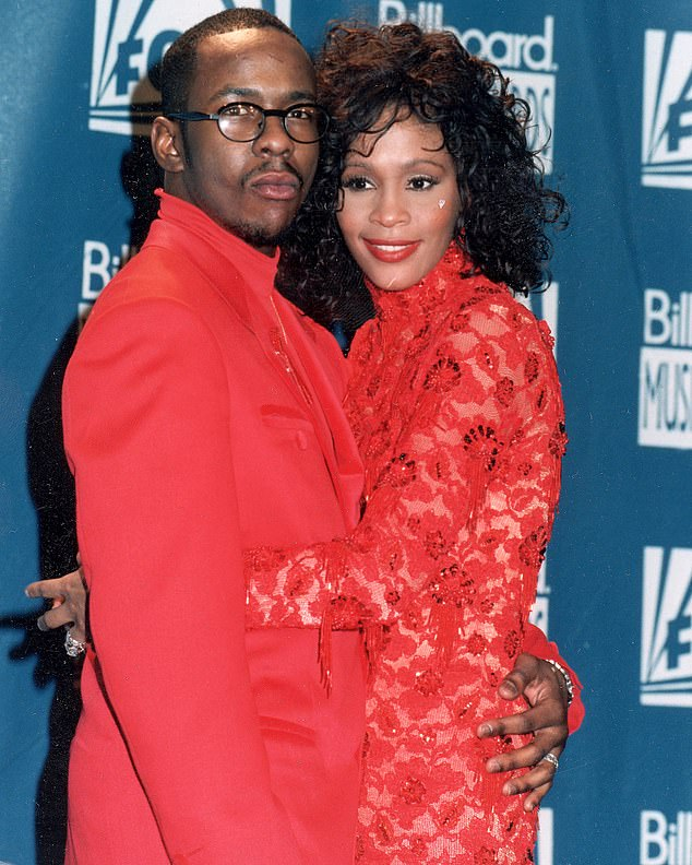Not pleased: Bobby Brown does not think a remake of his late wife Whitney Houston's 1992 film The Bodyguard is a good idea