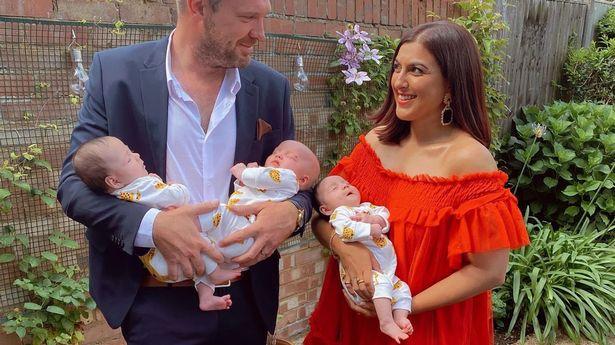 Natasha and Ryan and their three daughters