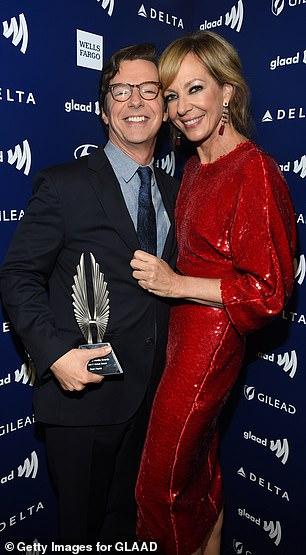 Winner: The actress presented Sean with theStephen F. Kolzak award