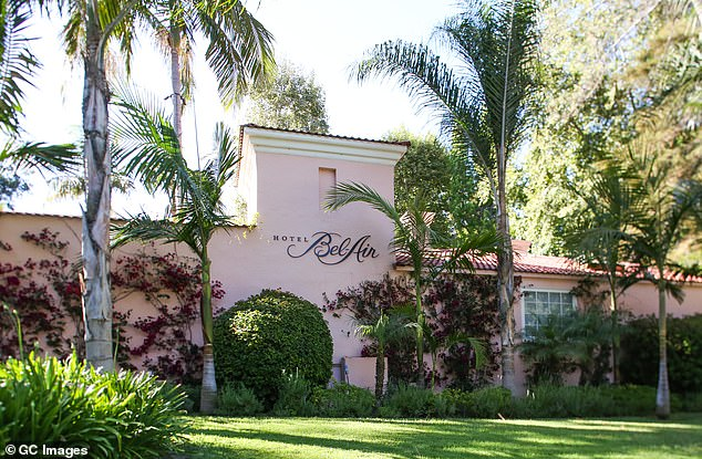 Clooney admitted that he's stayed at most of the nine hotels, but noted it was 'because I hadn't done my homework.'The sultan owns The Hotel Bel-Air in Los Angeles (pictured)