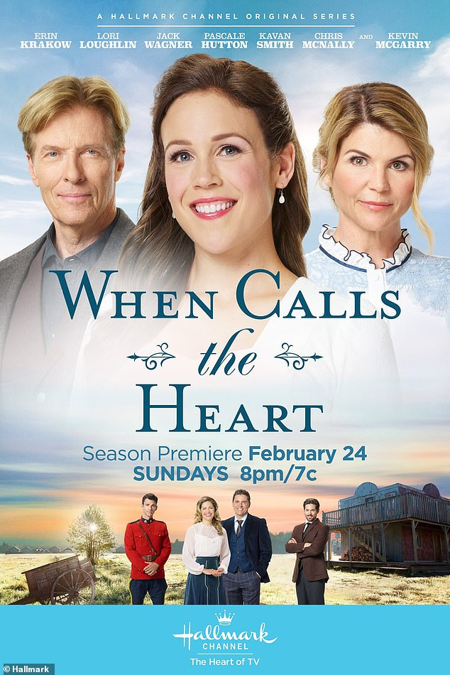 She WAS there:Also on Friday it was revealed that Hallmark had cut Lori out of their marketing material for their latest movie When Calls The Heart. The film also starred Jack Wagner, who used to date Heather Locklear, and Kevin McGarry. Lori was on the right side of the poster in February