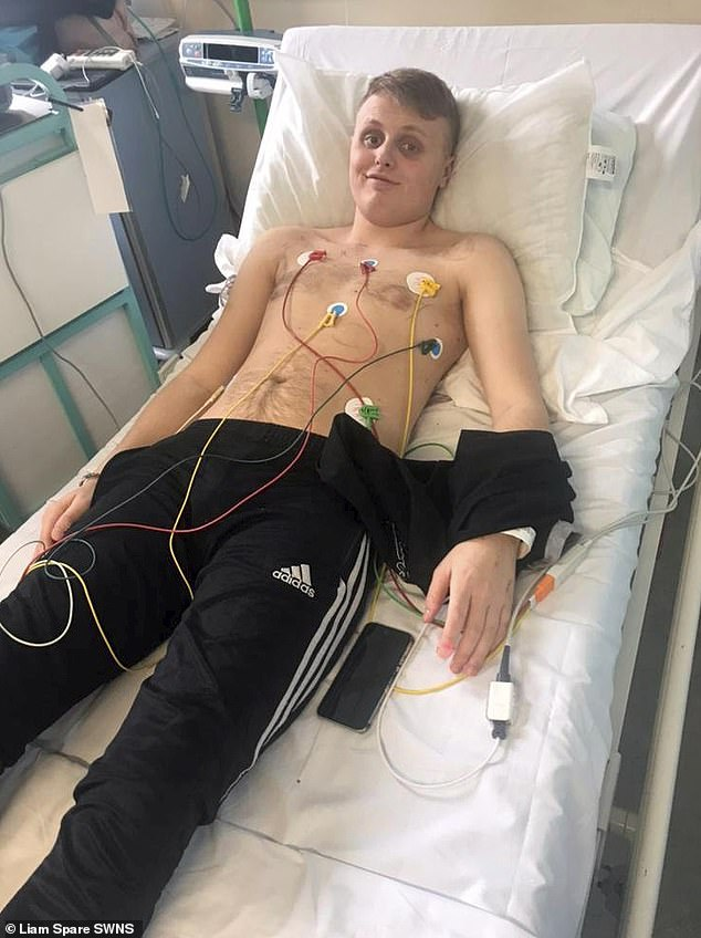Near-fatal: He was recently placed in an induced coma for three days after his heart dramatically stopped while at the gym