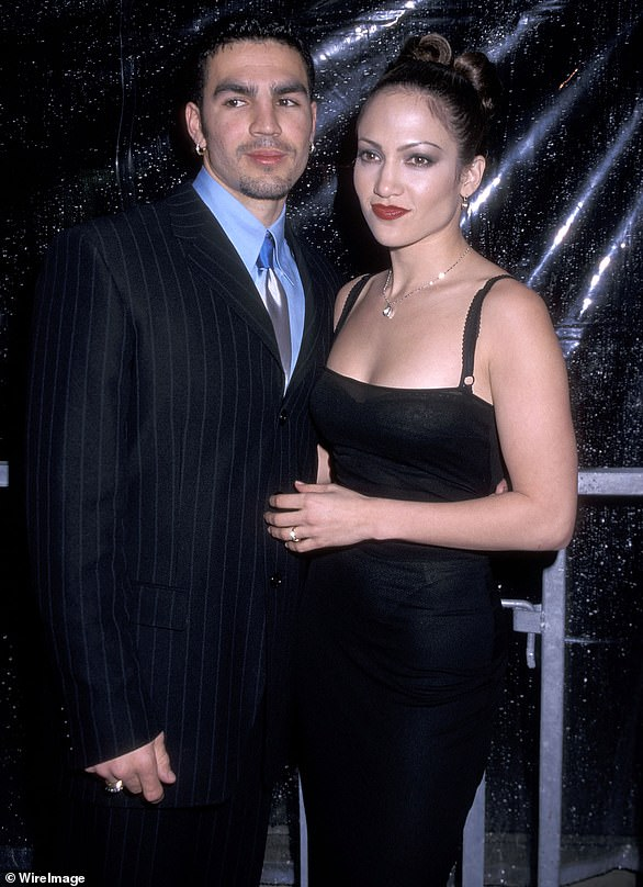 First time: The Jenny From The Block singer was married to Cuban waiter and occasional actor Ojani Noa for a short period from February 1997–January 1998 (pictured in 1998)