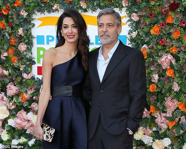 Clooney, pictured with his wife Amal at a charity gala earlier this month,went on to say that at 'the head of it all is the Sultan of Brunei who is one of the richest men in the world'
