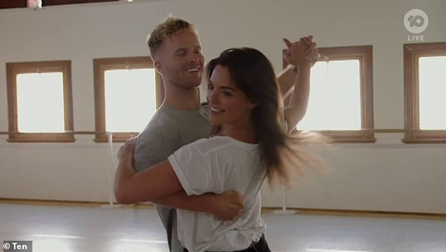 Intense: Recently, the burnette beauty has been appearing on Channel Ten's Dancing With the Stars reboot. Pictured with dance partner  Jarryd Byrne
