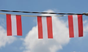National flags of Austria.