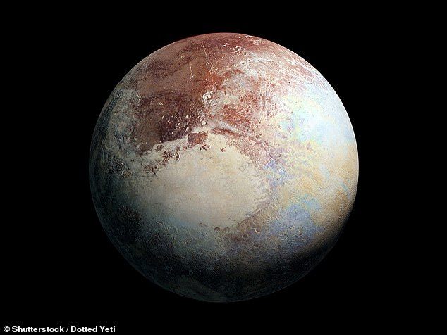 Pluto's atmosphere is made primarily of nitrogen, with traces of methane and carbon monoxide, and temperatures can drop to as low as -238 degrees Celsius. By 2030, scientists estimate its atmosphere will freeze over and condense