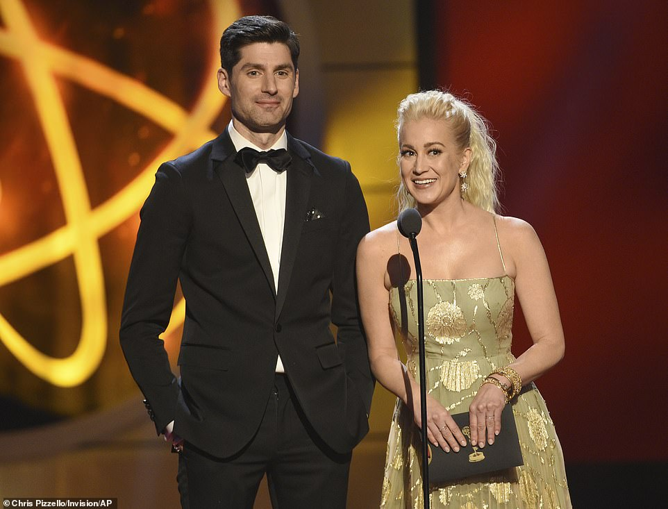 Let's do this! Ben Aaron and Kellie Pickler presented the honor for Outstanding Digital Drama