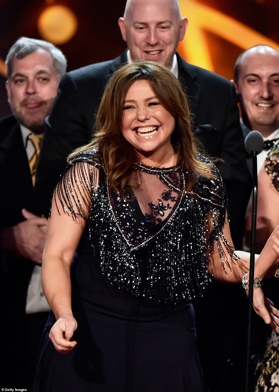 Watch and learn! Rachael Ray accepted the award for Outstanding Informative Talk Show