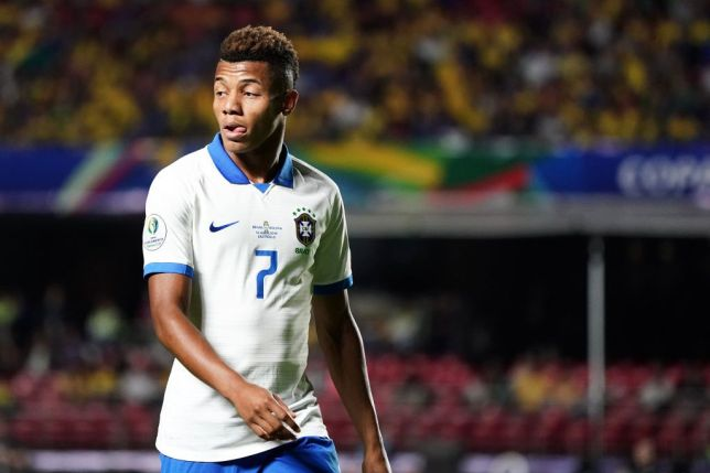 Chelsea and Arsenal transfer target David Neres looks on while playing for Brazil