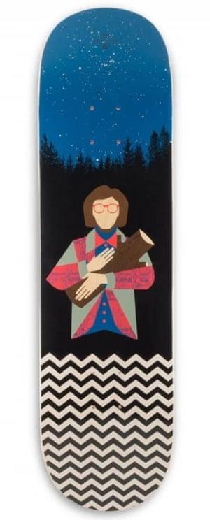 Twin Peaks log lady skateboard
