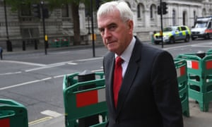 John McDonnell leaves the Cabinet Office in Whitehall
