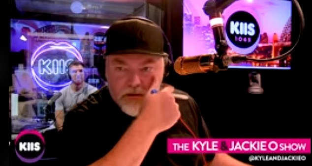 Controversial: Kyle (pictured) meanwhile, said he thinks it's okay to 'whack' a child if they're doing the wrong thing