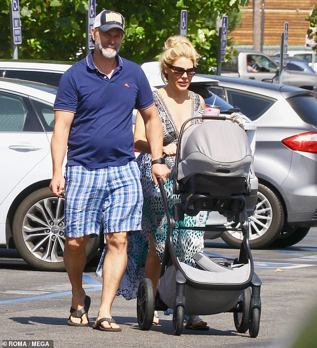 On a stroll: On Friday, Real Housewives of Orange County alum Gretchen Rossi was spotted out-and-about for the first time since her birth in Newport Beach, Orange County, California