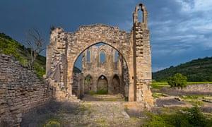Ruined Vallsanta Convent, near Guimerà.