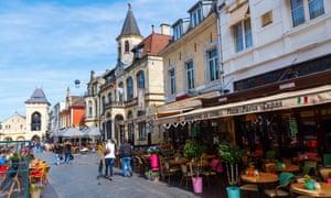 Restaurants in the old town of Valkenburg aan de Geul.