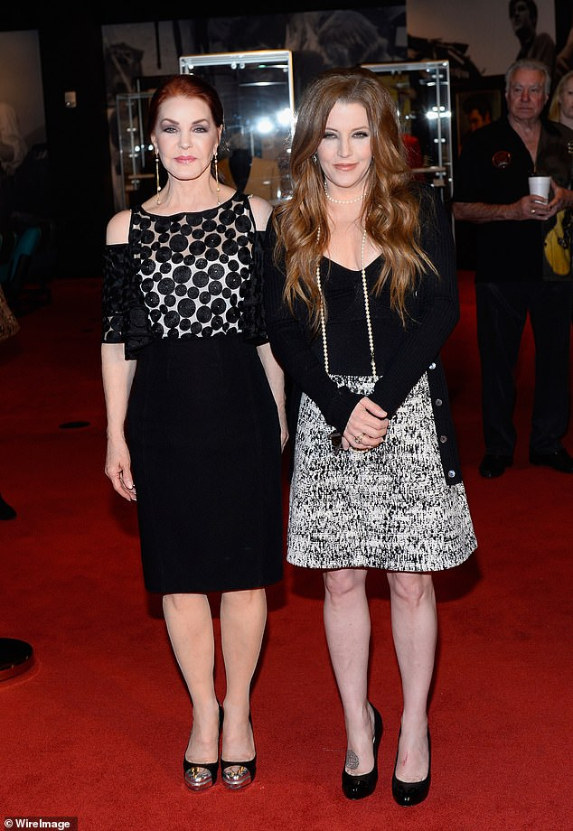 With her mother: Seen with mom Priscilla in 2015 as they attend the ribbon-cutting ceremony during the grand opening of Graceland Presents ELVIS: The Exhibition - The Show - The Experience in Las Vegas