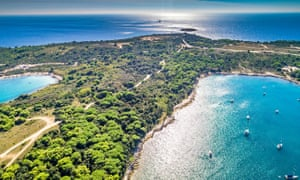 Aerial view of Cape Kamenjak.
