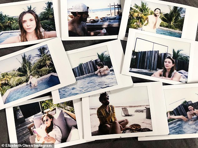 Private collection: The pair are notably quiet about their romance but the Avengers actress has shared some sweet snaps of the couple, including polaroids of them lounging around