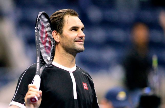 Roger Federer looks on after his US Open win