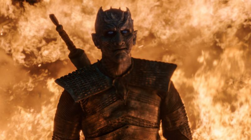 Vladimir Furdik as The Night King in The Long Night (HBO/Sky Atlantic)