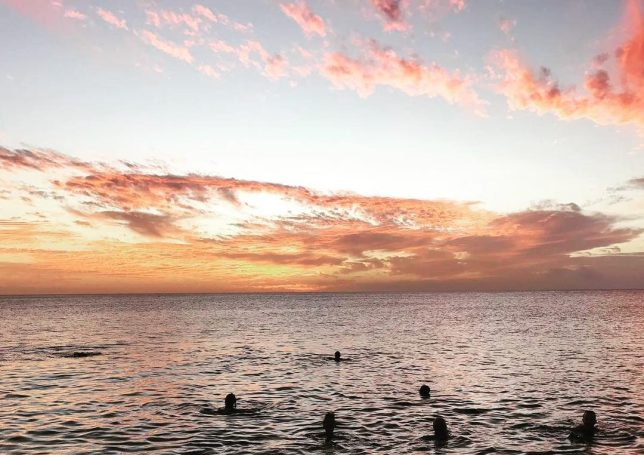 Sunset swimming on the west coast of Barbados