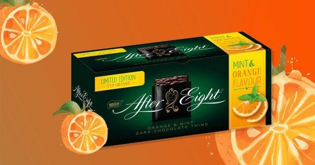 orange after eights